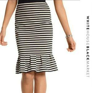 WHBM Striped Mermaid Skirt